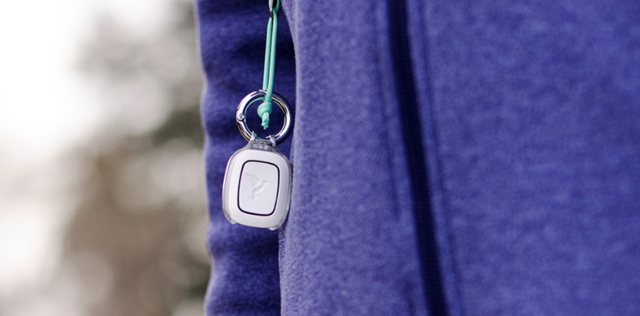 Revolar's Instinct Safety Device Looks Like Jewelry Attached to a Fleece Jacket