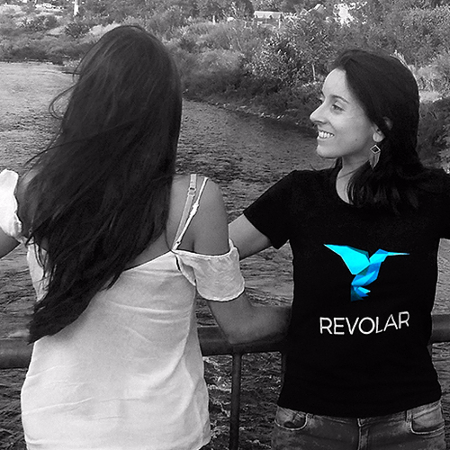 Revolar co-founders, Jacqueline Ros and Andrea Perdomo, overlooking the Platte River in Denver