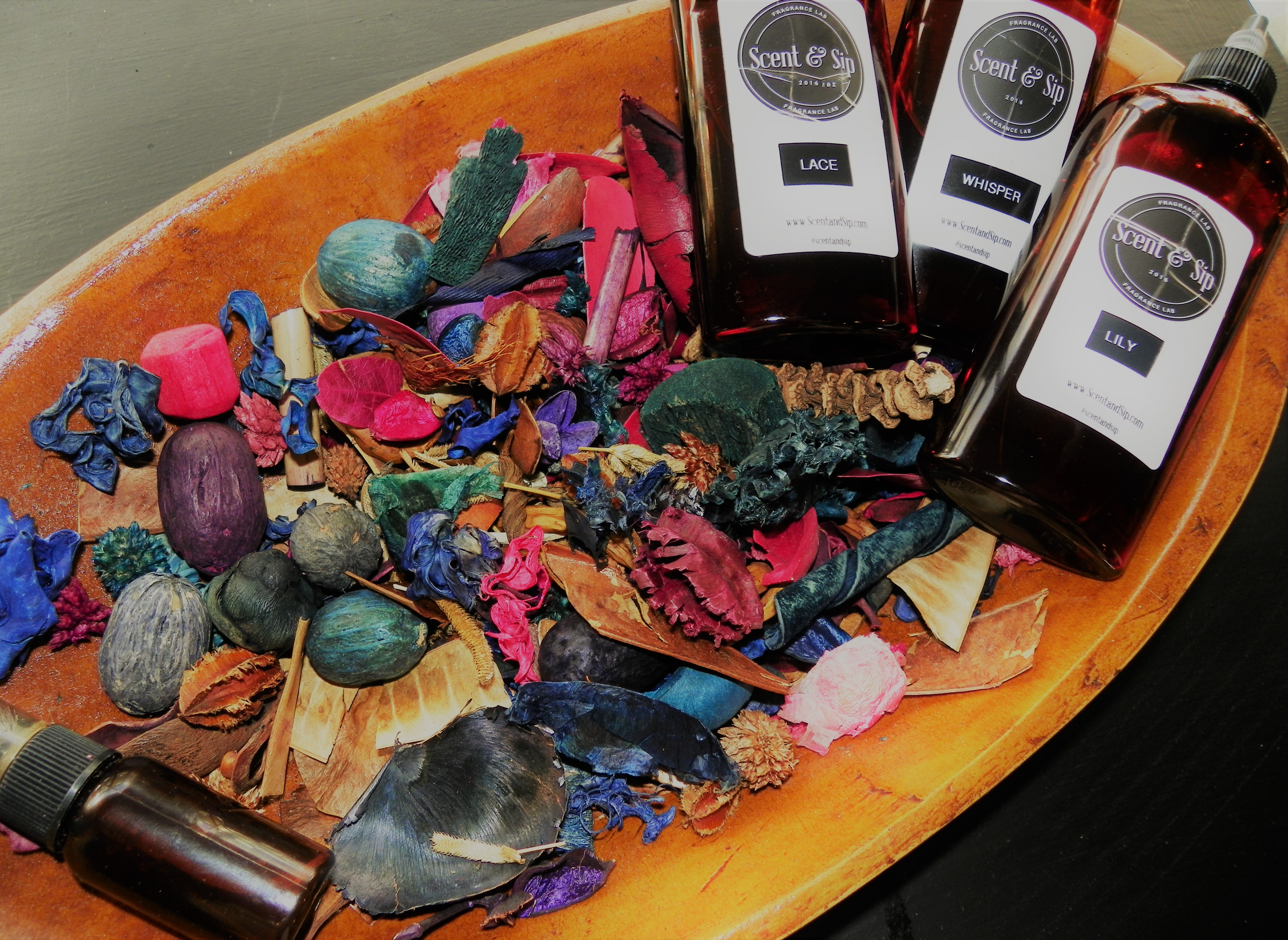 Potpourri, the perfect gift for Grandma.  You pick her color blend, and scent blend and she enjoys months of fragrance.