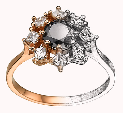 Bespoke Custom Engagement Ring Design Shiree Odiz NY