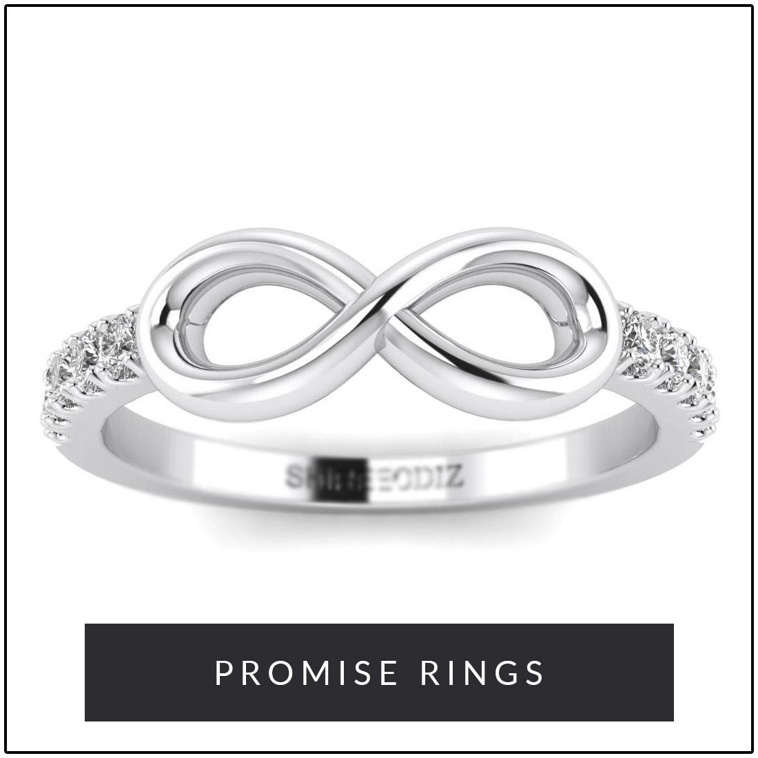 14k Gold Promise Rings for Her