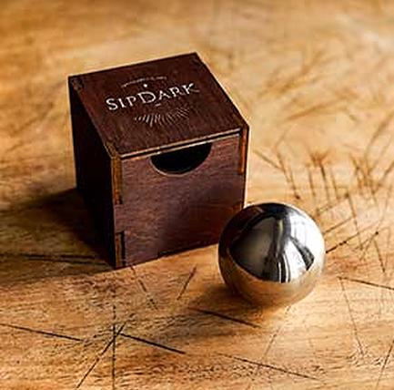 SipDark loball stainless chilling spheres
