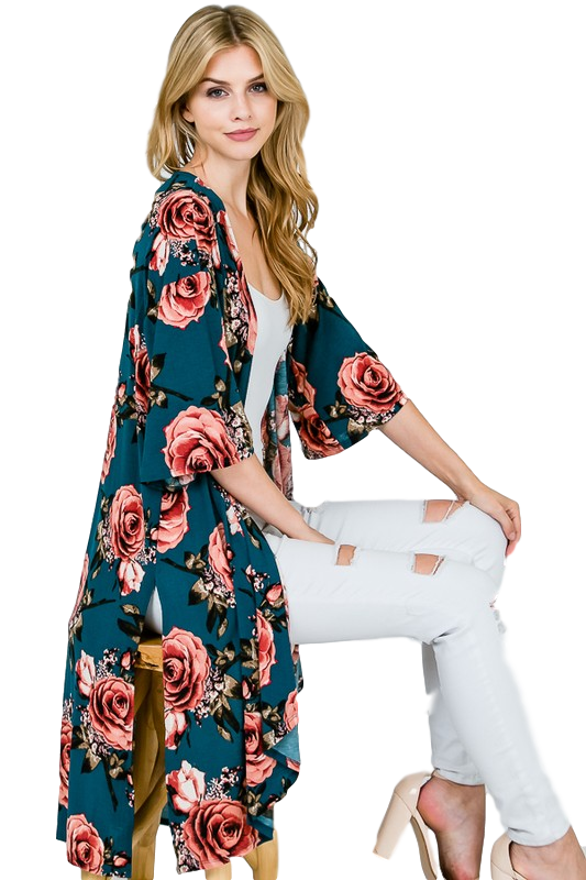 Feeling Lovely Kimono Duster - Snips and Snails Boutique