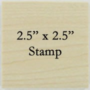 2.5 x 2.5 Personalized Stamp