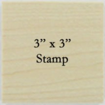 3 x 3 Personalized Stamp