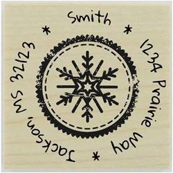 Round Snowflake Stamp