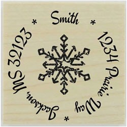 Distressed Snowflake Stamp