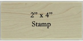 2 x 4 Personalized Stamp