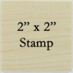 2 x 2 Personalized Stamp