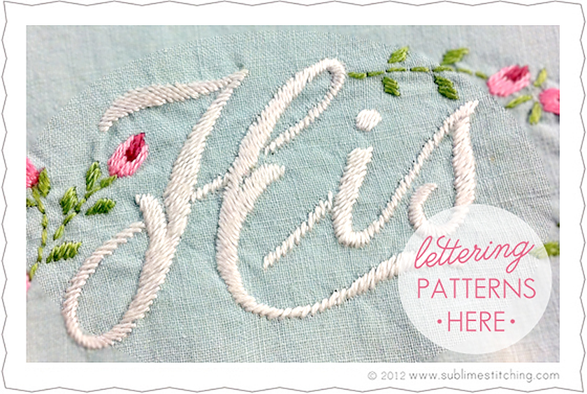 Satin Stitch Typography and Fonts - Say it with Satin Stitch