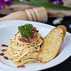 Pasta Carbonara in Surf House