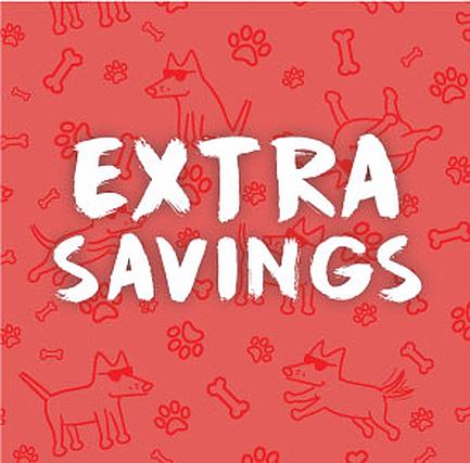 Extras Savings at Teddy the Dog