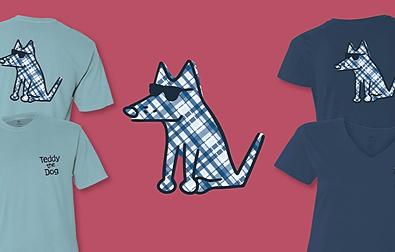 Designer Teddy: Blue Plaid Teddy the Dog Pick of the Litter