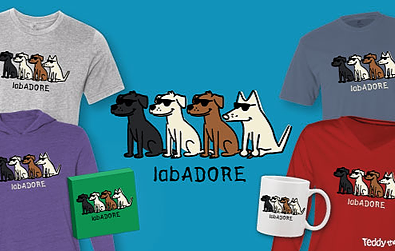 LabADORE T-Shirts Teddy the Dog Pick of the Litter
