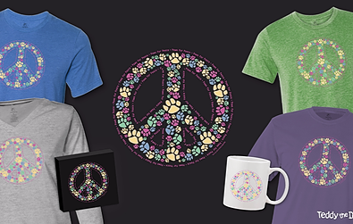 Paws For Peace T-Shirts Teddy the Dog Pick of the Litter