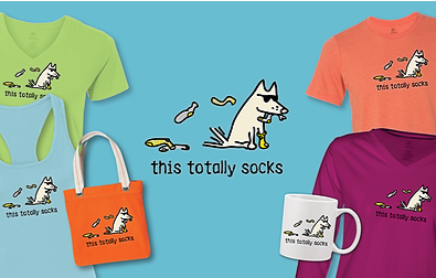 This Totally Socks T-Shirts Teddy the Dog Pick of the Litter