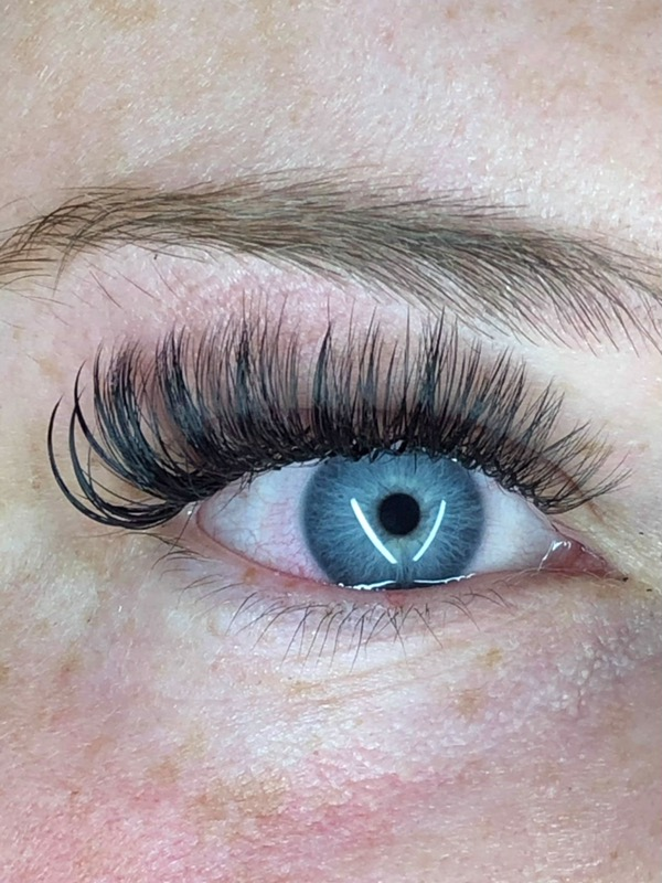 Lash Extensions with Blue Eyes