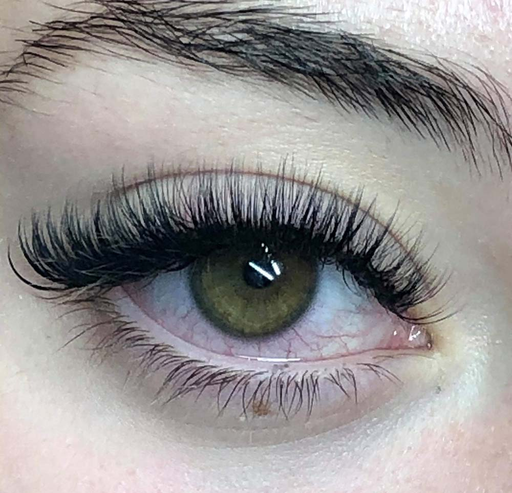 Lash Extensions with brown eyes