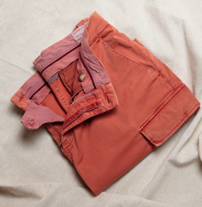 BRUNELLO CUCINELLI GARMENT DYED COTTON BERMUDA CARGO SHORTS