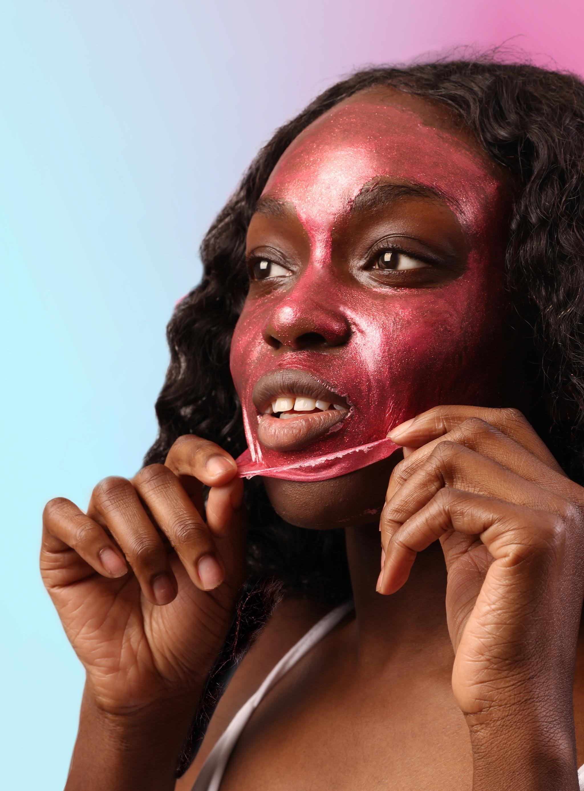 Cosmic Pink Ruby Glitter Peel-Off Mask
