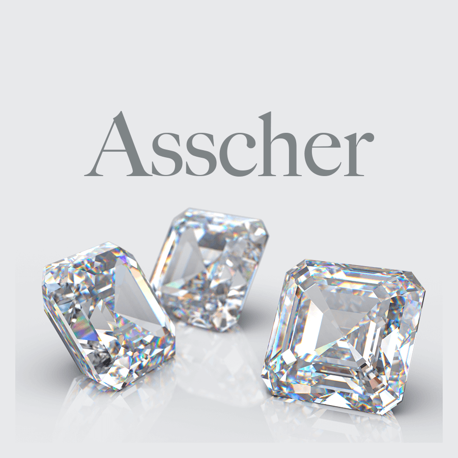Lab Grown Asscher Cut Diamonds from Australian Diamond Network