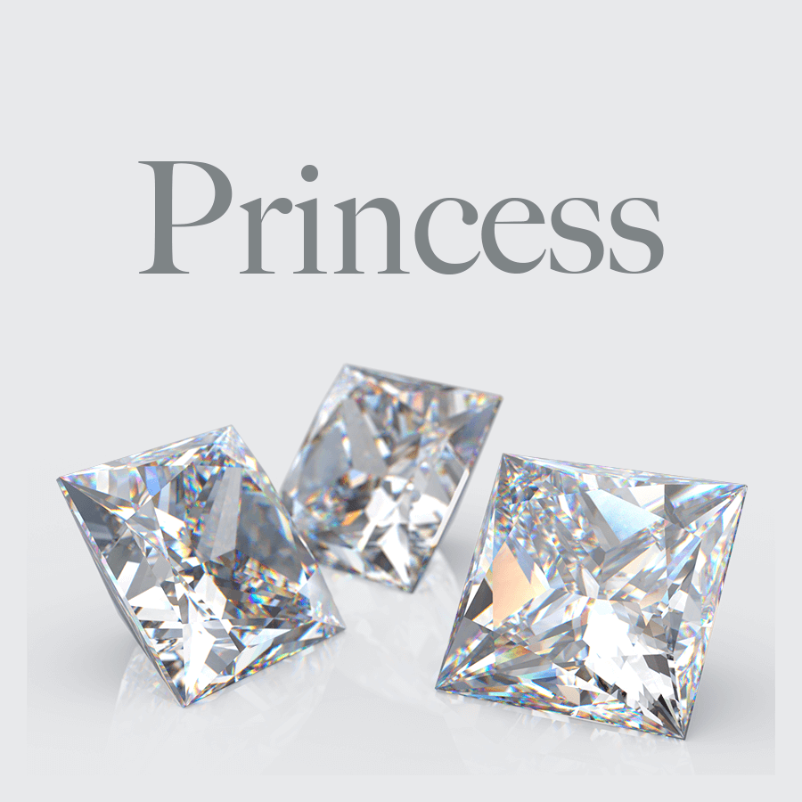 Lab Grown Princess Shape Diamonds from Australian Diamond Network