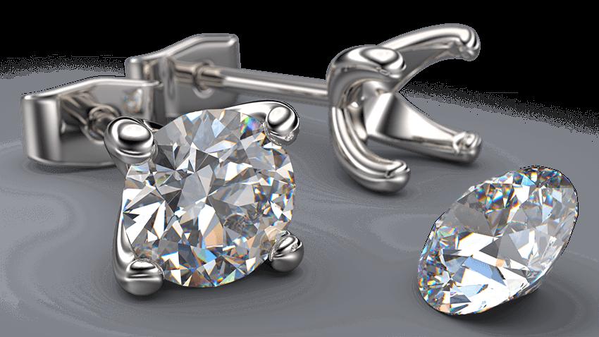 4 Claw Diamond Stud Earrings In Gold | Australian Diamond Network