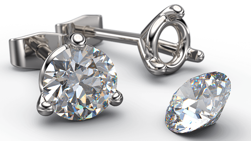 3 Claw Diamond Stud Martini Earrings | Australian Diamond Network