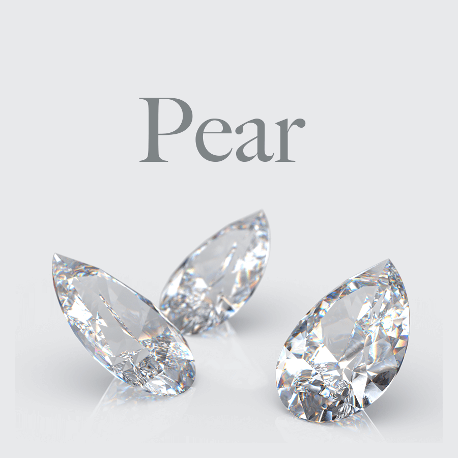 Lab Grown Pear Cut Diamonds from Australian Diamond Network