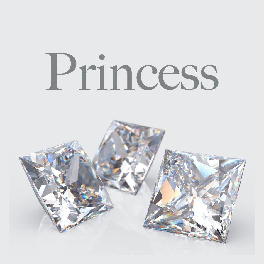 Lab Grown Princess Cut Diamonds from Australian Diamond Network