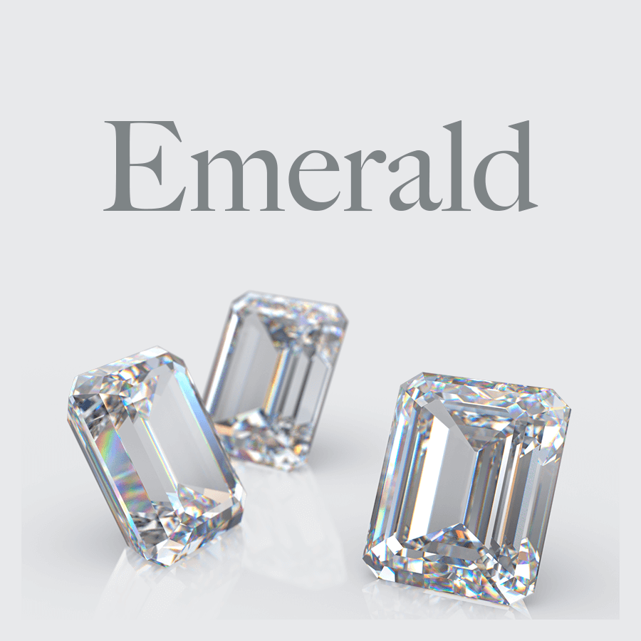 Lab Grown Emerald Shape Diamonds from Australian Diamond Network