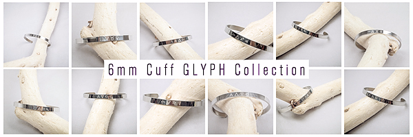 ZODIAKOS - 6mm Cuff GLYPH Collection