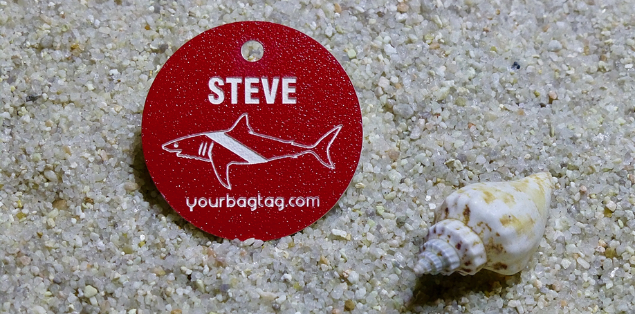 Red Scuba Equipment Name ID Tag from YourBagTag.com