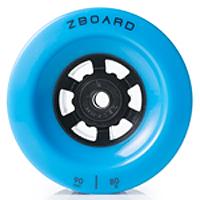blue electric skateboard wheel set